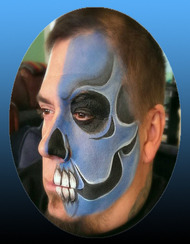 Half Skull Face Paint Premo Designs